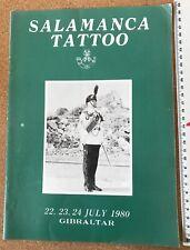 More details for salamanca tattoo. gibraltar 1980. northern ireland military photos. programme.
