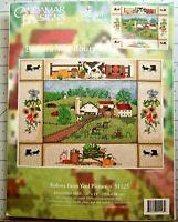 "KOLONA FARM YARD PICTURE Candamar Designs Counted Cross Stitch Kit 14""X11"" NIP"