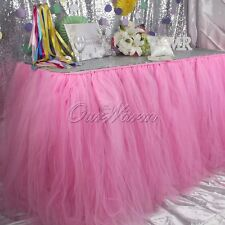 100x80cm Tutu Tulle Table Skirt For Wedding Party Baby Pink Girl Princess Decor