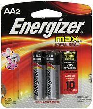 Energizer Max Alkaline E91BP-2 AA Batteries (2-Pack)