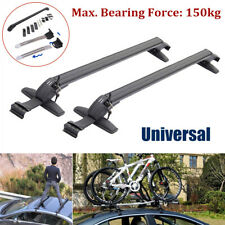 Universal Car Roof Rail Luggage Rack Baggage Carrier Cross with Anti-theft Lock