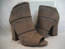 Jessica Simpson Size 10 M Midara Taupe Ankle Booties New Womens Shoes NWOB