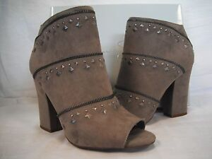 Jessica Simpson Size 8.5 M Midara Taupe Ankle Booties New Womens Shoes NWOB
