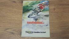 Triumph Sales Brochure Poster T140 Bonneville Tr7 1976-77 - Tri-sb-76