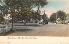 Waterville Massachusetts Square Main Street Residential Antique Postcard K14662