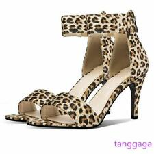 Women Stilettos Sandal Suede  High Heels Party Ladies Pumps Shoes Plus Size 14
