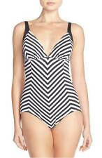 Tommy Bahama One-Piece OTS V-Front Shirred Halter Cup SwimSuit AU20 Womens NEW