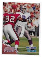 1998 Topps Stadium Club Troy Aikman Refractor Insert Card
