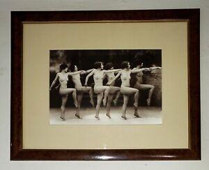 FANTASTIC ALBERT ARTHUR ALLEN ART DECO RISQUE CHORUS LINE FRAMED PRINT PHOTO