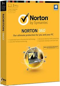 Norton Symantec 360 v6 CD 2013, Windows 7 8 vista XP