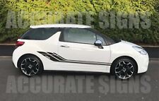 CITROEN DS3 GRAPHICS SET STICKERS SIDE STRIPES CAR DECALS ANY COLOUR