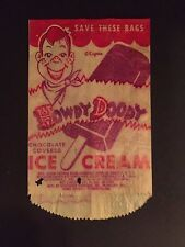 "1950's Howdy Doody, Chocalate Covered Ice Cream Bar Wrapper, ""Kagran"""