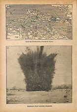 Map Carte Dardanelles Ottoman Empire Sea of Marmara Saros WWI 1915 ILLUSTRATION