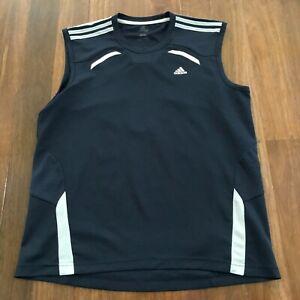 Adidas Multicoloured Sleeveless Singlet Gym Muscle Tank T-Shirt Size L