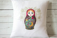 "Russian doll pink -16"" cushion cover French shabby vintage chic - UK handmade"