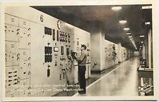 Old Real Photo Postcard RPPC Turbine & Generator Grand Coulee Dam, Washington WA