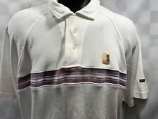 NIKE Dri Fit White Purple Polo Shirt Men's Size M