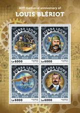 Sierra Leone 2016 MNH Louis Bleriot 80th Memorial 4v M/S Aviation Stamps
