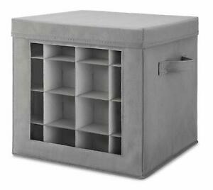 Christmas Ornament Storage Box Fits 64 Ornaments Gray