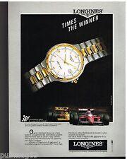 Publicité Advertising 1991 La Montre Longines Conquest VHP