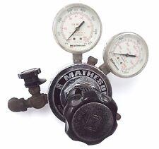 MATHESON GAS REGULATOR MODEL NO. 8-350 W/ 63-3112 & 63-3133 GAUGES, 8350