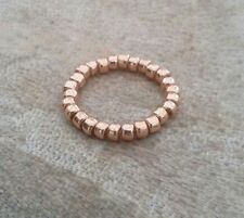 Rose Gold Plain Ball Beaded Ring Stretch Stacking
