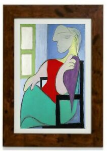 *Larger Size* Woman Sitting Near a Window Framed Print By Pablo Picasso