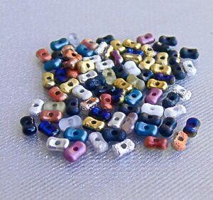 Assorted Colors Farfalle 6x4mm Czech Glass Beads 50 Pcs