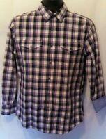 Banana Republic Shirt Size S Slim Fit  Multicolor Plaid Long Sleeve  Button Up