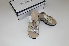 Croft & Barrow Metallic Piper Size 9.5 NEW Shoes Women's Sandals $44.99