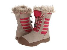 BIG GIRL KIDS YOUTH 6 WOMEN 8 KEEN WAPATO WP RED Waterproof LEATHER BOOTS