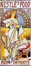 1898 Nestles Food Vintage French Nouveau France Poster Print Advertisement