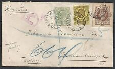 British Levant 1906 mixed franked R-cover to Constantinopel