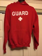 LIFEGUARD Heavy Hoodie Sweatshirt (Men's XL) Red - Jerzees