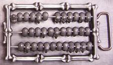 Pewter Belt Buckle Skull and Bones Abacus NEW