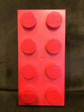 Lego Brick Plastic 2x4 Red Coin Bank 853144 RARE NEW