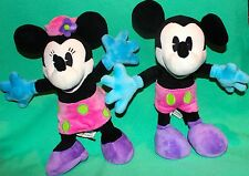 "DISNEY MICKEY MINNIE 12"" ARTICULATED POSEABLE BENDABLE ARMS LEG PLUSH TOY NEW"