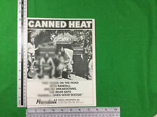 advert for Randall Instruments with Canned Heat 1977