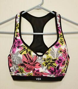 Victoria Secret VSX Incredible Floral Workout Yoga Sports Bra Size 32D