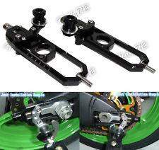 Rear Chain Adjusters w/ Swingarm Spool Black For BMW S1000RR 09-14 HP4 S1000R US
