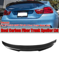 For 15-19 BMW F82 M4 Coupe PSM Style HighKick Carbon Fiber Rear Trunk Spoiler
