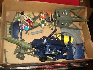 "1980s-90  #467 batch LOT Vintage 3 3/4"" Gi Joe vehicle & figure parts"