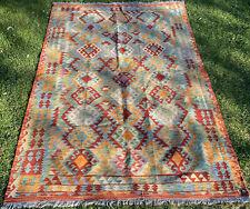 Afghan Kilim Handmade Rug Vintage Chobi Kilim Antique LargeRug 251x171cm