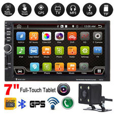 "7"" Double 2 DIN Stereo Car MP3 MP5 Radio Video Player GPS Nav Bluetooth + Camera"
