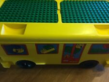 Lego Duplo 2581 Yellow Bus Ride On Storage Bin Blocks Animals Bricks Base Plates