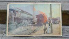 "Antique 1910 ""Railroad Book""  McLoughlin, New York Beautiful Chromolithography"