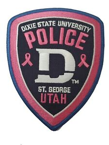 Dixie State University Police Breast Cancer Awareness Patch UT Utah