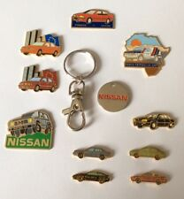 Lot 10 Pin's NISSAN  + Trolley Token Jeton Caddy Japan Auto Car Primera Patrol