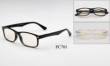 Clear Computer Glasses Blue Light Block Filter Spring Hinges Anti-Glare Dry Eye