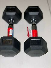 NEW Weider 10lb Dumbbells Pair Rubber Coated Hex Set 20lb Total Free Shipping